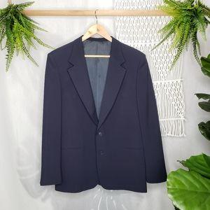 Valentino Blazer Suit 1pc Navy Blue Men's Size 34